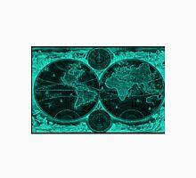 World Map (1730) Black & Light Blue Unisex T-Shirt