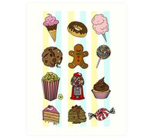 Candy/sweets pattern Art Print