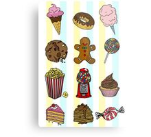 Candy/sweets pattern Metal Print