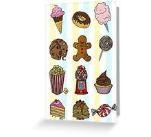 Candy/sweets pattern Greeting Card