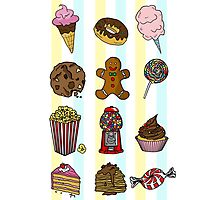 Candy/sweets pattern Photographic Print