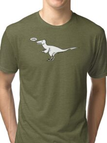 Cartoon Velociraptor Tri-blend T-Shirt