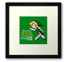 Call Me Zelda One More Time Framed Print
