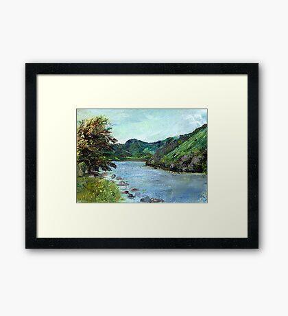 Lyn Crafnant Reservoir Framed Print