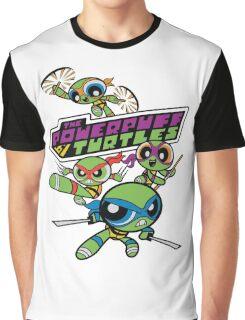 Powerpuff Girls and Teenage Mutant Ninja Turtles Graphic T-Shirt