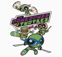 Powerpuff Girls and Teenage Mutant Ninja Turtles One Piece - Long Sleeve