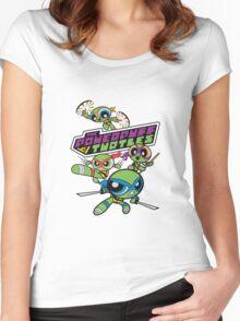 Powerpuff Girls and Teenage Mutant Ninja Turtles Women's Fitted Scoop T-Shirt