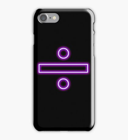 Division sign (neon)  iPhone Case/Skin