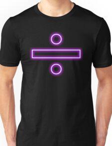 Division sign (neon)  Unisex T-Shirt