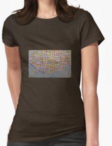 Piet Mondrian Womens Fitted T-Shirt