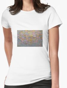 Piet Mondrian Womens Fitted T-Shirt