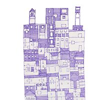Big Purple Building by LotteFisher