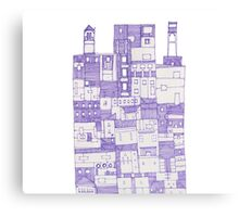 Big Purple Building Canvas Print
