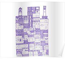 Big Purple Building Poster