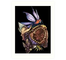 Monster Hunter Monster Mash Design Art Print