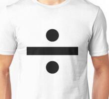Division sign (black) Unisex T-Shirt