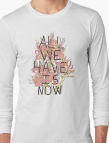 ALL WE HAVE IS NOW Long Sleeve T-Shirt