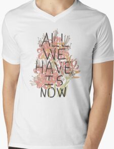 ALL WE HAVE IS NOW Mens V-Neck T-Shirt