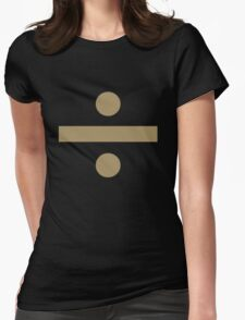 Division sign (gold) Womens Fitted T-Shirt