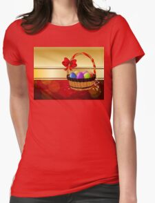 Easter Card with Basket Womens Fitted T-Shirt