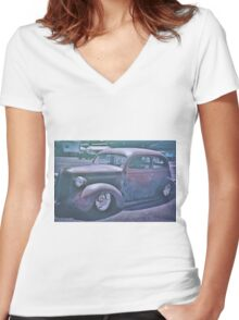 Rat Rod 5 Women's Fitted V-Neck T-Shirt
