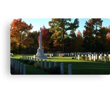 Autumn Cemetery Canvas Print