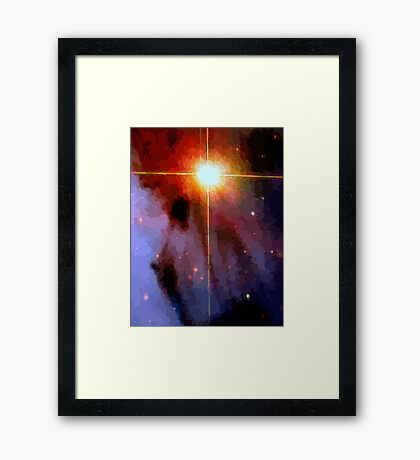 Supernova Abstract Framed Print