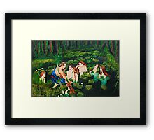 The sailor and the water nymphs Framed Print