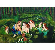 The sailor and the water nymphs Photographic Print