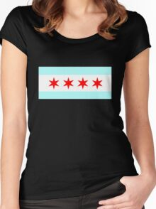 Flag of Chicago Women's Fitted Scoop T-Shirt