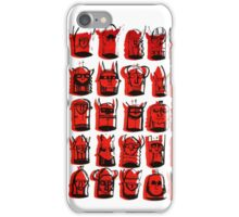 Wee Helmeted Red Folk iPhone Case/Skin
