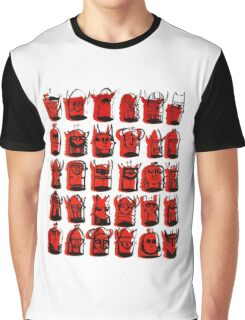 Wee Helmeted Red Folk Graphic T-Shirt