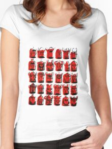Wee Helmeted Red Folk Women's Fitted Scoop T-Shirt