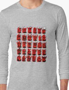 Wee Helmeted Red Folk Long Sleeve T-Shirt