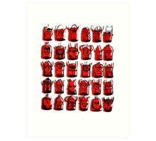 Wee Helmeted Red Folk Art Print