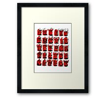 Wee Helmeted Red Folk Framed Print