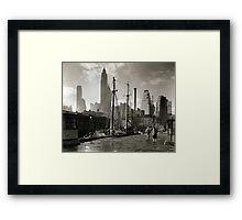 New York Vintage picture Framed Print