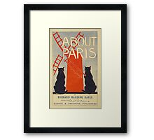 Vintage French Paris poster Framed Print
