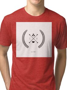 Hipster Coffee House Logo Tri-blend T-Shirt