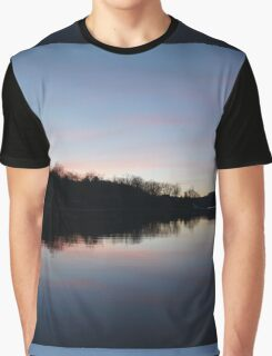 Pink and Blue Reflection Graphic T-Shirt