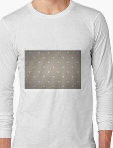 Heart Polka Dots with lovely dark brown Long Sleeve T-Shirt