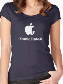 Think Dalek  Women's Fitted Scoop T-Shirt