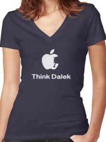 Think Dalek  Women's Fitted V-Neck T-Shirt