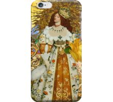 Fine Art Vintage Medieval Portrait Collage Woman iPhone Case/Skin