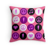 Music Polka Dots For Music Lovers Throw Pillow