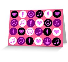 Music Polka Dots For Music Lovers Greeting Card