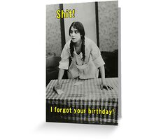 happy belated birthday greeting card Greeting Card