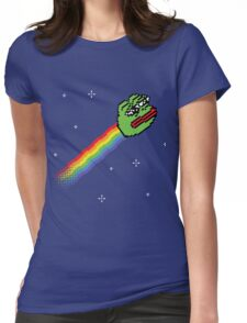 Nyan Pepe Meme Mash Up Womens Fitted T-Shirt