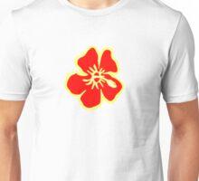 Red Hawaiian Hibiscus Flowers Unisex T-Shirt