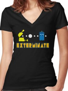 PAC DALEK Women's Fitted V-Neck T-Shirt